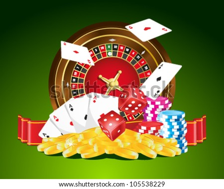 Gambling vector illustration - stock vector