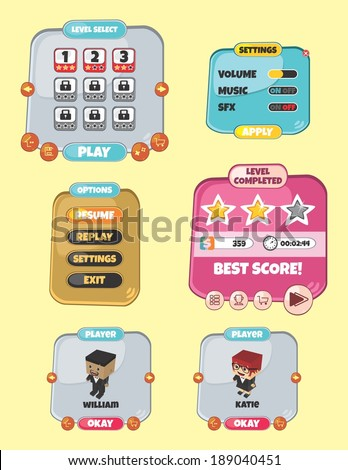 game assets block isometric cartoon character theme - stock vector
