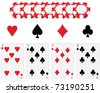 Game cards vector - stock