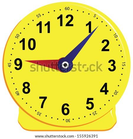 Game clock for children, teaching the subject. Vector illustration. - stock vector