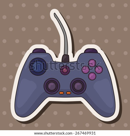 game control theme elements vector,eps - stock vector