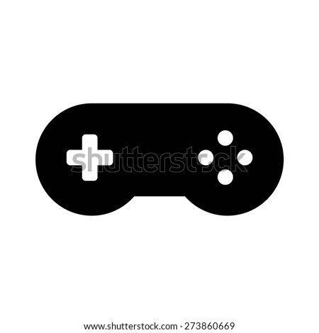 Game controller (gamepad) flat icon for apps and websites - stock vector