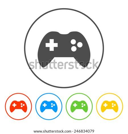Game controller icon. Flat vector illustrator Eps - stock vector