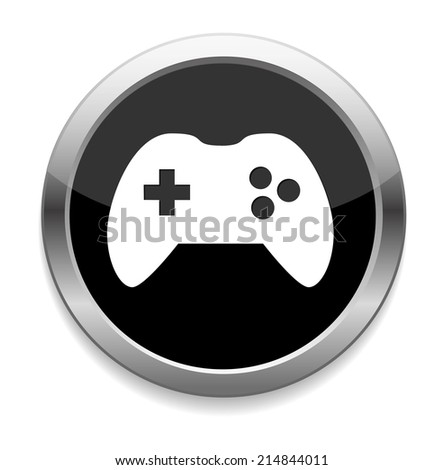 game icon button - stock vector