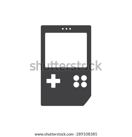 Game icon, gameboy - stock vector