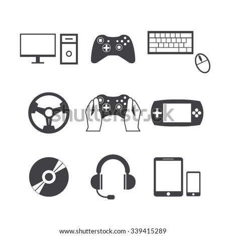 Game icons - stock vector