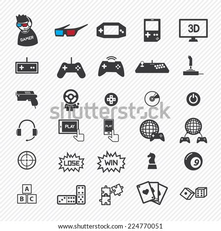 game icons set. illustration eps10 - stock vector