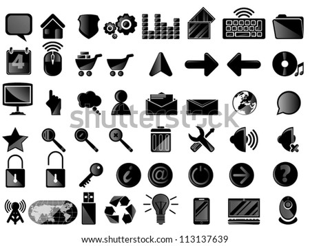 GAME ICONSET - stock vector