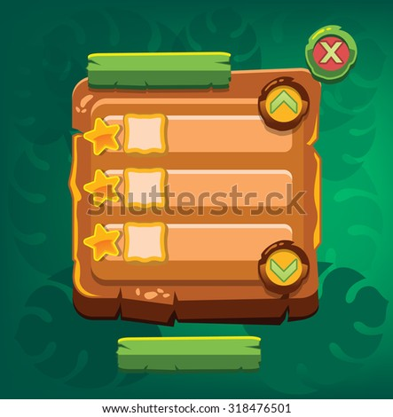 Game information panel. Vector illustration - stock vector