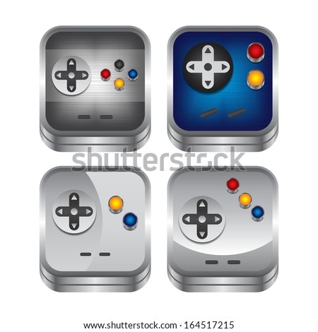 game interface icon set - stock vector