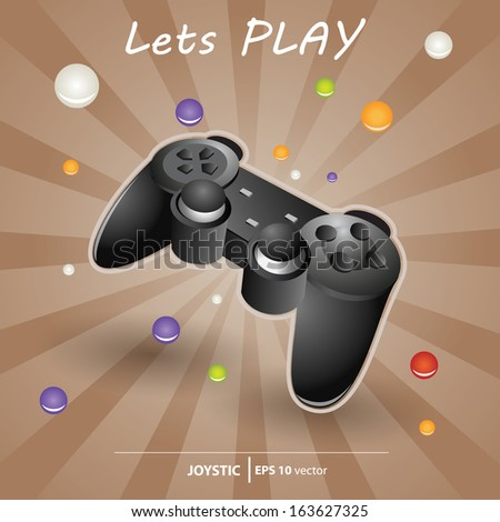 Game Joystic console - stock vector