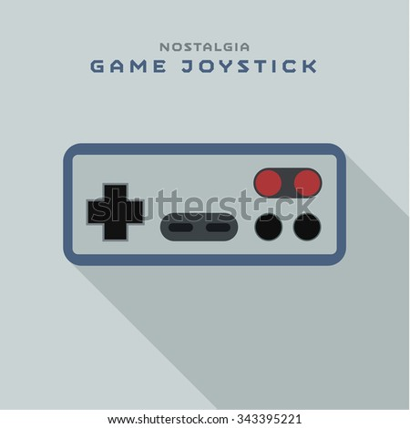 Game joystick controller from consoles to the video games, flat style art - stock vector