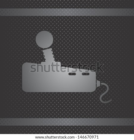game metal theme vintage game stick - stock vector