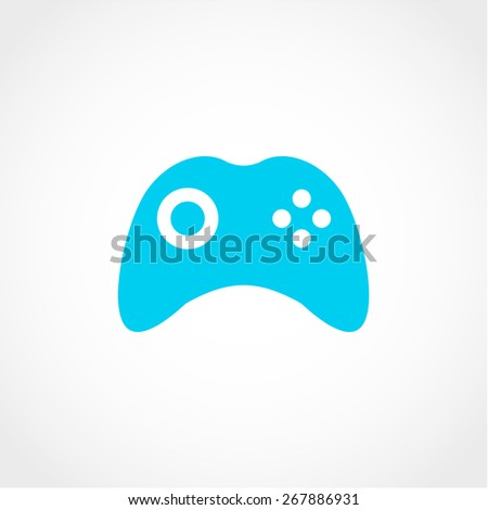 Game pad, joystick, computer games Icon Isolated on White Background - stock vector
