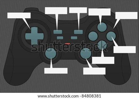Game-Pad Vector - stock vector