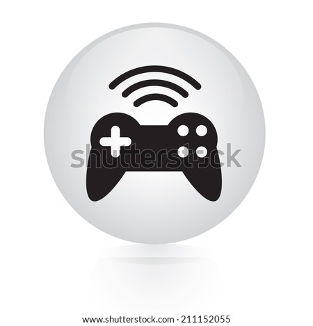 game pad wireless button web icon  - stock vector