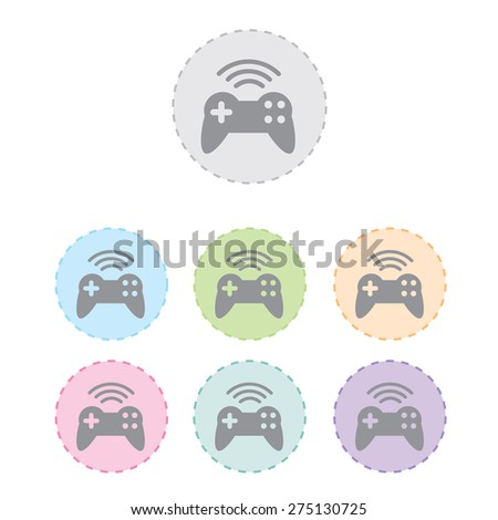 game pad wireless icon set. vector illustration - stock vector