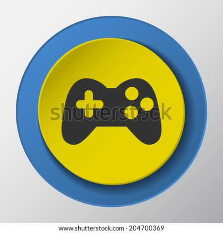 game paper icon with shadow. Vector illustrations. - stock vector