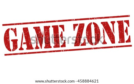 Game zone grunge rubber stamp on white background, vector illustration