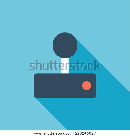 Gamepad flat icon. Modern flat icons with long shadow effect in stylish colors. Icons for Web and Mobile Application. EPS 10. - stock vector