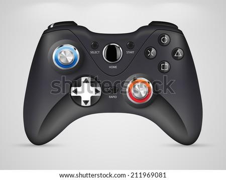 Gamepad - video game controller  - stock vector