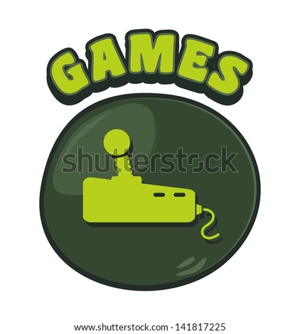 games console cartoon button four - stock vector