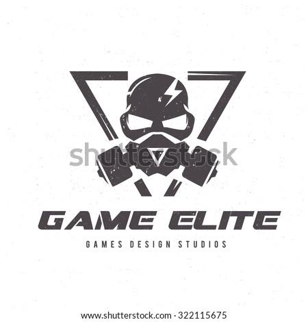 Games logo  Vector logo template - stock vector