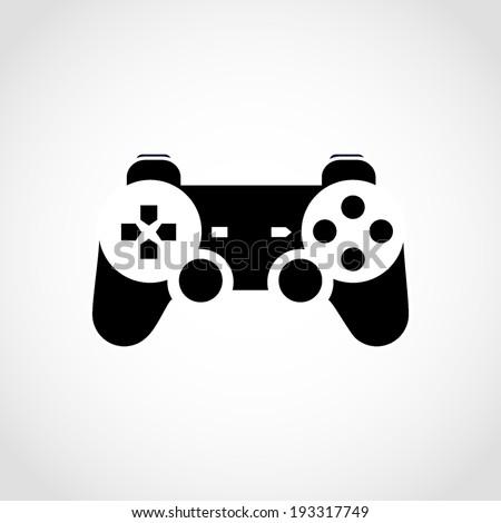 Gaming Joystick Icon Isolated on White Background - stock vector
