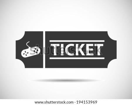 Gaming Tickets Coupon Voucher - stock vector