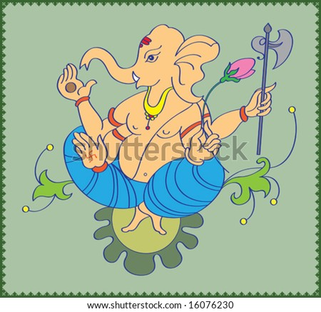 Ganesha Abstract - stock vector