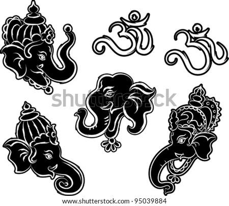 Ganesha Collection - stock vector