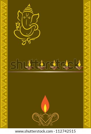 Ganesha Greeting - stock vector