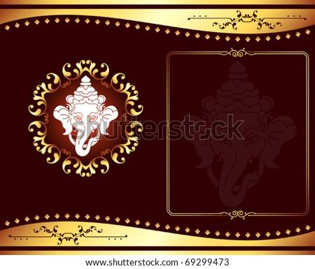 ganesha wedding card design