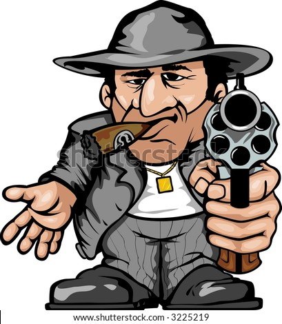 gangster - stock vector