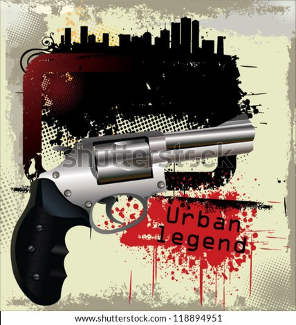 Gangster background - stock vector