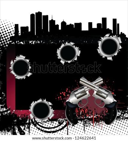 Gangster city - stock vector