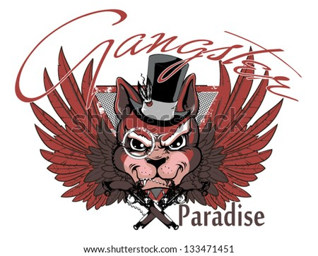 Gangster paradise - stock vector