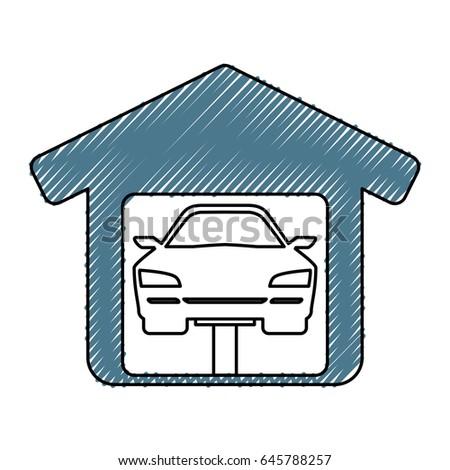 Garage Door Mechanic Stock Vector 645788257 Shutterstock