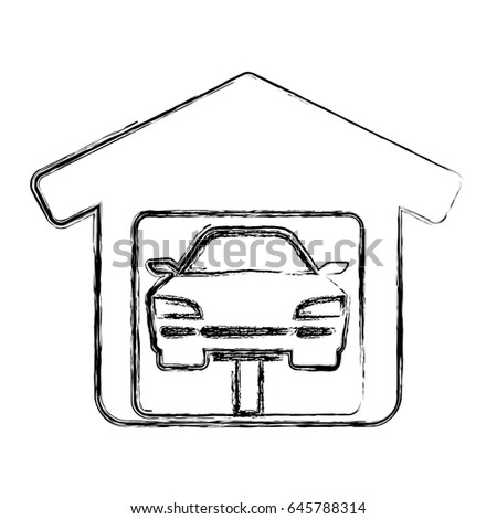 Garage Door Mechanic Stock Vector 645788314 Shutterstock
