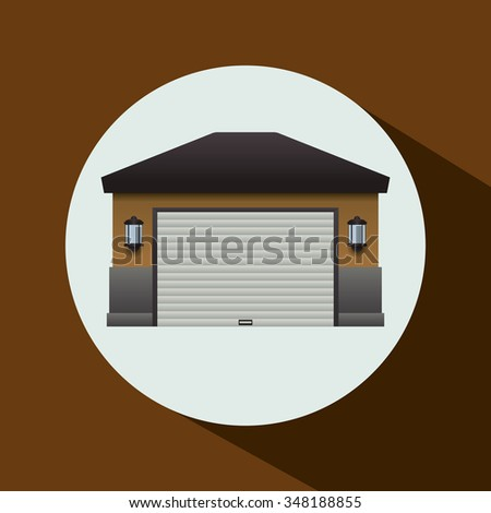 Garage icon, vector illustration 10 eps graphic. - stock vector