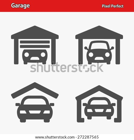 Garage Icons. Professional, pixel perfect icons optimized for both large and small resolutions. EPS 8 format. - stock vector