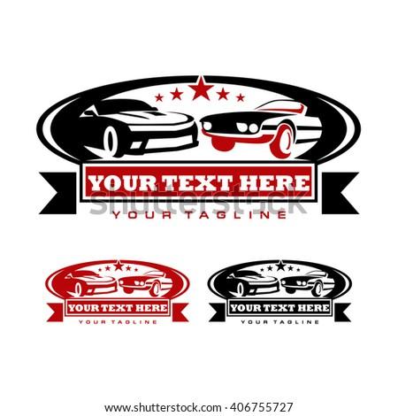 garage logo template car exhibition logo stock vector royalty free