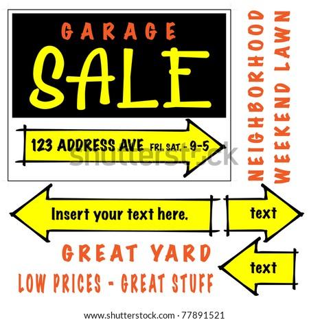 Sale Announcement Template Garage Sale Signage Template