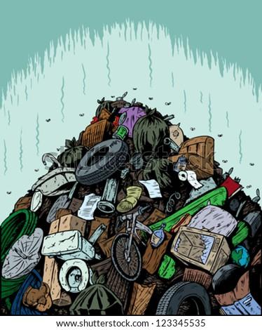 Garbage Dump - stock vector
