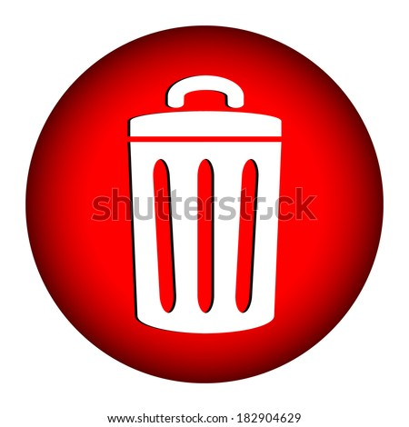 Garbage icon on white background. - stock vector