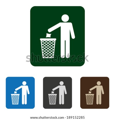 Garbage Recycling Symbol Color - stock vector