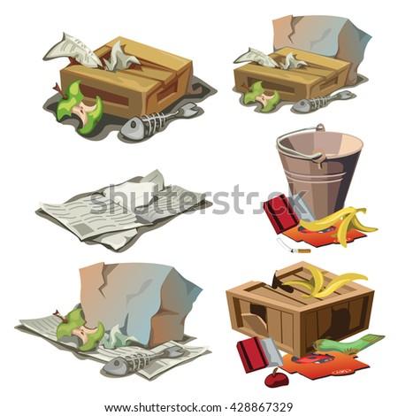 Garbage. Vector illustration. - stock vector