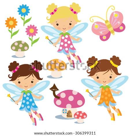 garden fairy vector