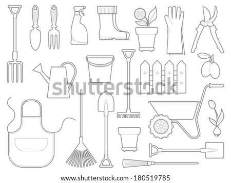 Garden icons - stock vector