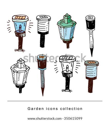 Garden light, illustration vector. - stock vector